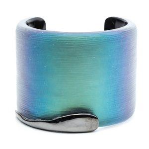 Alexis Bittar Lucite Liquid Metal Edge Bracelet
